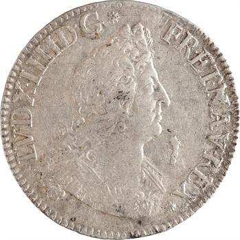 Louis XIV, demi-écu aux insignes, variété tranche inscrite rétrograde, 1701 Paris