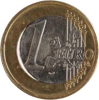 Euro, France, 1 euro frappe fautée, 1999 Pessac