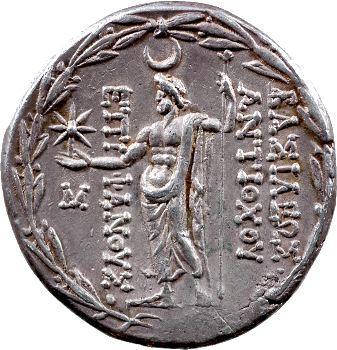 Syrie, Antiochos VIII, tétradrachme, Ptolémais, 117-115 av. J.-C.