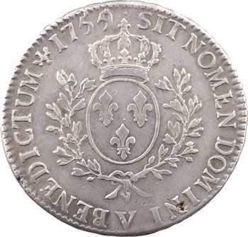 Louis XV, écu au bandeau, 1759/5 Troyes