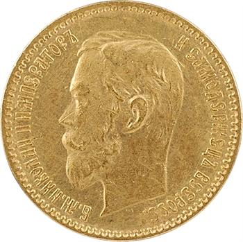 Russie, Nicolas II, 5 roubles, 1900 Saint-Pétersbourg