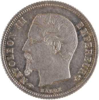 Second Empire, 50 centimes tête nue, 1858 Paris