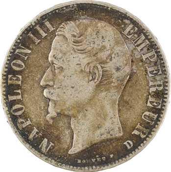 Second Empire, 5 francs tête nue, 1856 Lyon