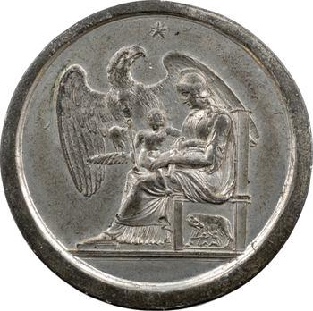 Italie, médaille maçonnique, naissance du Roi de Rome, par Mercandetti, 5811 (1811)