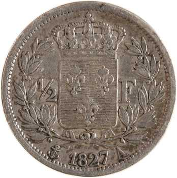 Charles X, 1/2 franc, 1827 Paris