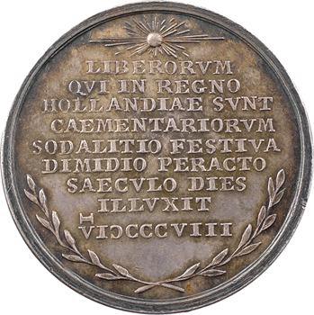 Pays-Bas, cinquantenaire du Grand Orient hollandais, 1808