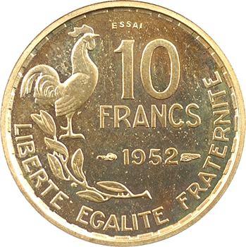 IVe République, essai-piéfort de 10 francs Guiraud, 1952 Paris