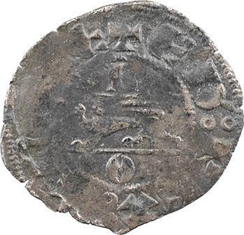 Aquitaine (duché d'), Édouard III, denier au léopard, 3e type, B/O