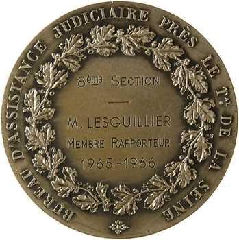 Ve République, Bureau d'assistance judiciaire du tribunal de la Seine, par Daniel-Dupuis, 1965-1966 Paris
