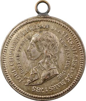 Louis XVII, jeton, sa naissance et sa mort, 1793 (Restauration) Paris