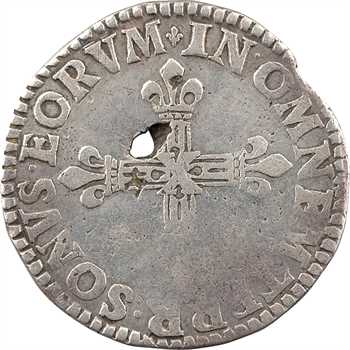 Château-Regnault (principauté de), François de Bourbon et Louise-Marguerite de Lorraine, quart d'écu 2e type, s.d. (1615-1616) Château-Regnault