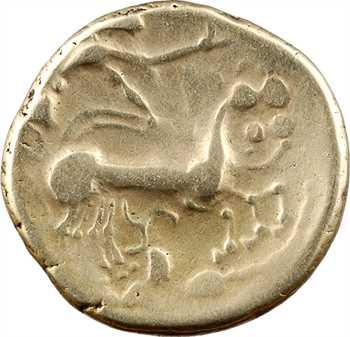 Éduens, statère au triskèle, classe III, type de Beaune, c.150 av. J.-C