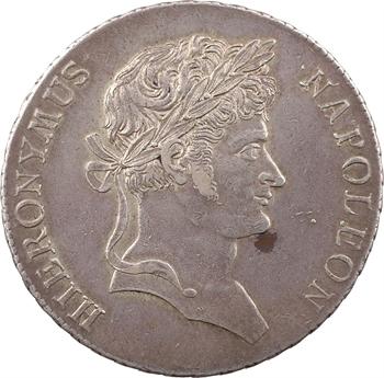 Allemagne, Westphalie (royaume de), Jérôme Napoléon, thaler de convention 2e type, 1811 Cassel