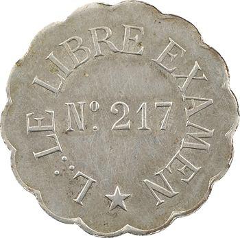 Orient de Paris, le Libre examen, 50 c., s.d. Paris