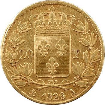 Charles X, 20 francs, 1826 Paris