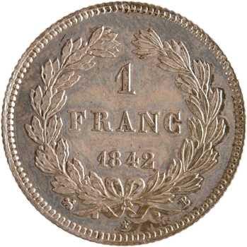 Louis-Philippe Ier, 1 franc, 1842 Rouen