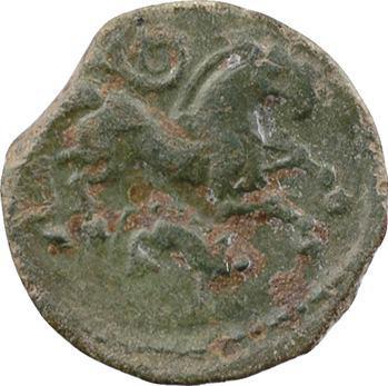 Carnutes, bronze TITIVS au cheval et au sanglier, classe XI, c.40-30 av. J.-C.
