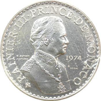 Monaco, Rainier III, essai en argent de 50 francs, 1974 Paris