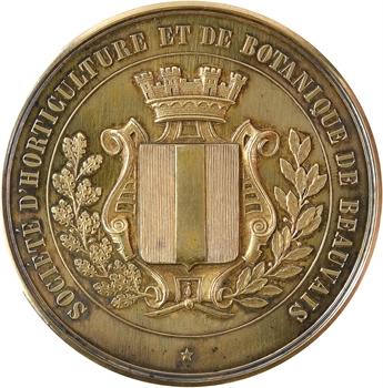 IIIe République, société d'horticulture de Beauvais, en vermeil, 1898 Paris