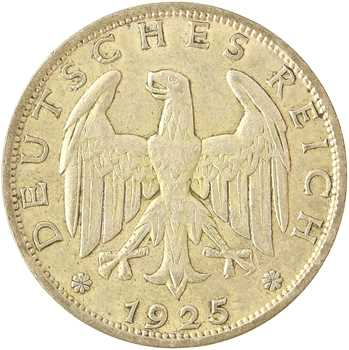 Allemagne (Empire d'), 1 mark, 1925 Berlin