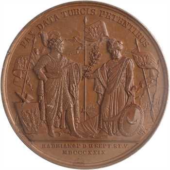 Russie/Turquie, Nicolas Ier, la paix avec la Turquie, par Gube, 1829, PCGS SP65