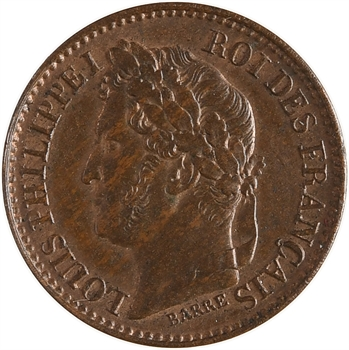 Louis-Philippe Ier, essai de 1 centime, s.d. Paris flan épais