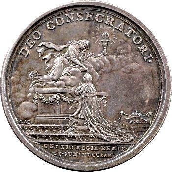 Louis XVI, médaille du sacre, 1775