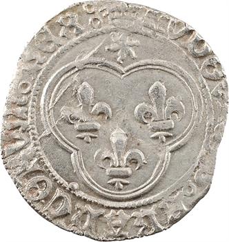 Louis XI, blanc au soleil, variante avec REX:, Troyes