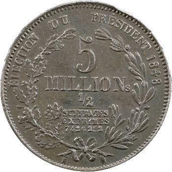 IIe République, médaille au module de 5 francs par Montagny, 1848