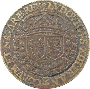 Louis XIII, défaite du Duc de Soubise sur l'Île de Ré, jeton bimétallique, 1626 Paris
