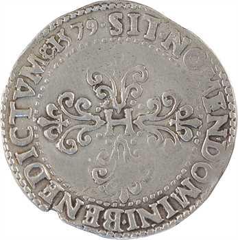 Henri III, franc au col plat, 1579 Saint-Lô