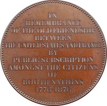 États-Unis, la statue de la Liberté et l'amitié franco-américaine, par Tasset, 1876 Lyon