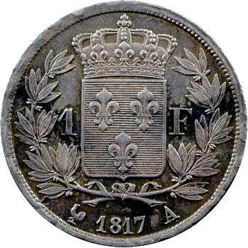 Louis XVIII, 1 franc, 1817 Paris