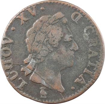 Louis XV, sol à la vieille tête, 1772 Troyes, variété D inversés