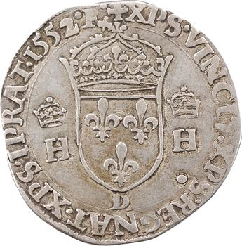 Henri II, teston à la tête couronnée, 1552 Lyon