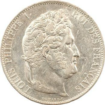 Louis-Philippe Ier, 5 francs IIIe type Domard, 1844 Lille