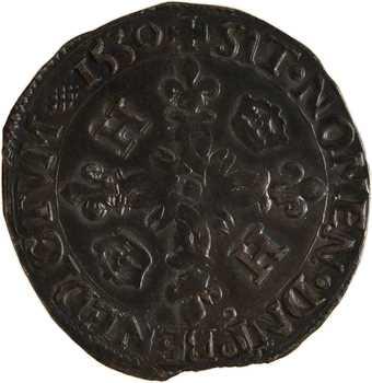 Henri II, douzain aux croissants, 1550 Rennes