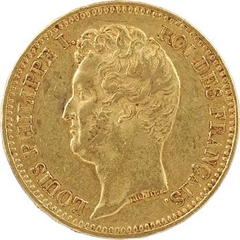 Louis-Philippe Ier, 20 francs Tiolier, tranche en relief, 1831 Lille