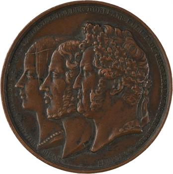 Philippe d'Orléans [Philippe VII], baptême du Comte de Paris, par Barre et Caqué, 1841 Paris