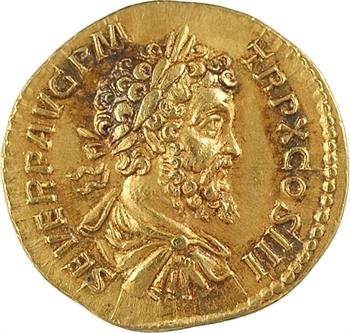 Septime Sévère, aureus, Rome, 202