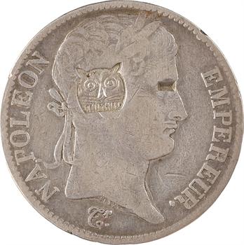 Premier Empire, 5 francs Empire, 1812 Bayonne, contremarque au tigre