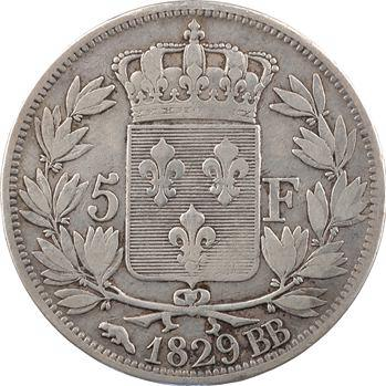 Charles X, 5 francs 2e type, 1829 Strasbourg