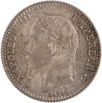 Second Empire, 50 centimes tête laurée, 1867 Paris