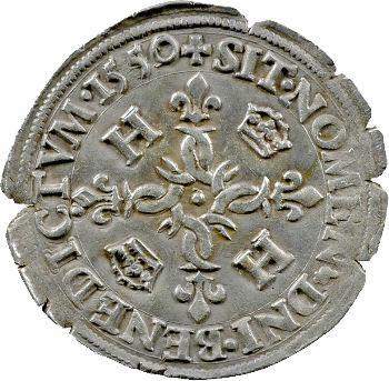 Henri II, douzain aux croissants, 1550 Paris