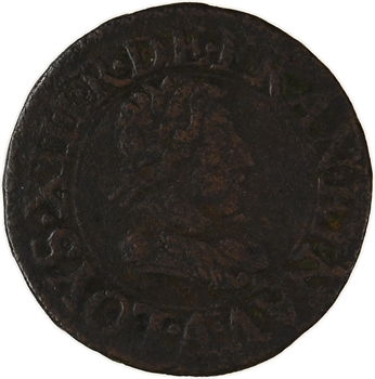 Louis XIII, denier tournois, 1622 Paris