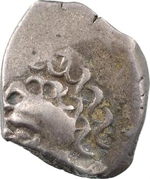 Tolosates, drachme à la tête négroïde (esse et trois points liés), c.52 av. J.-C
