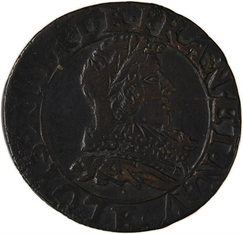 Louis XIII, double tournois, 1631 Tours