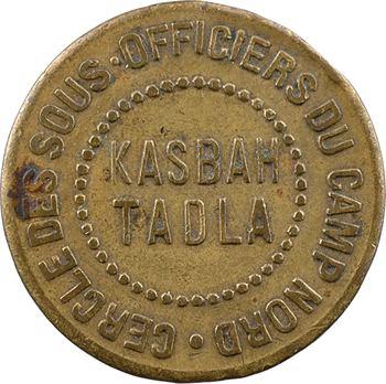 Maroc, Kasbah-Tadla, Cercle des sous-officiers du camp nord, 1 franc, s.d