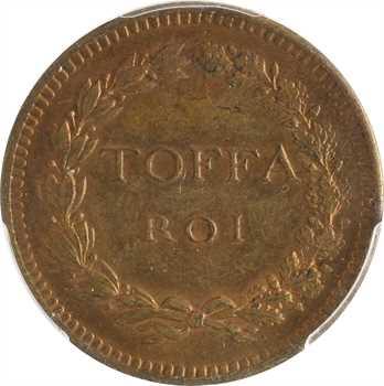 Dahomey, Toffa roi de Porto Novo, module de 10 centimes, s.d. (1892-1893 ?), PCGS MS64RB