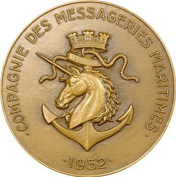 IVe République, médaille des Messageries maritimes, Ferdinand de Lesseps, 1952